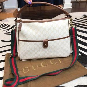 Gucci Supreme Large Cross Body Hand Bag GG